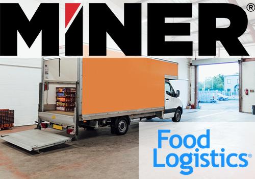 Food Logistics and Miner Logos